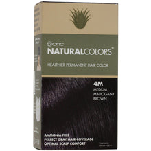Load image into Gallery viewer, ONC NATURALCOLORS 4M Medium Mahogany Brown Hair Dye With Organic Ingredients 120 mL / 4 fl. oz.