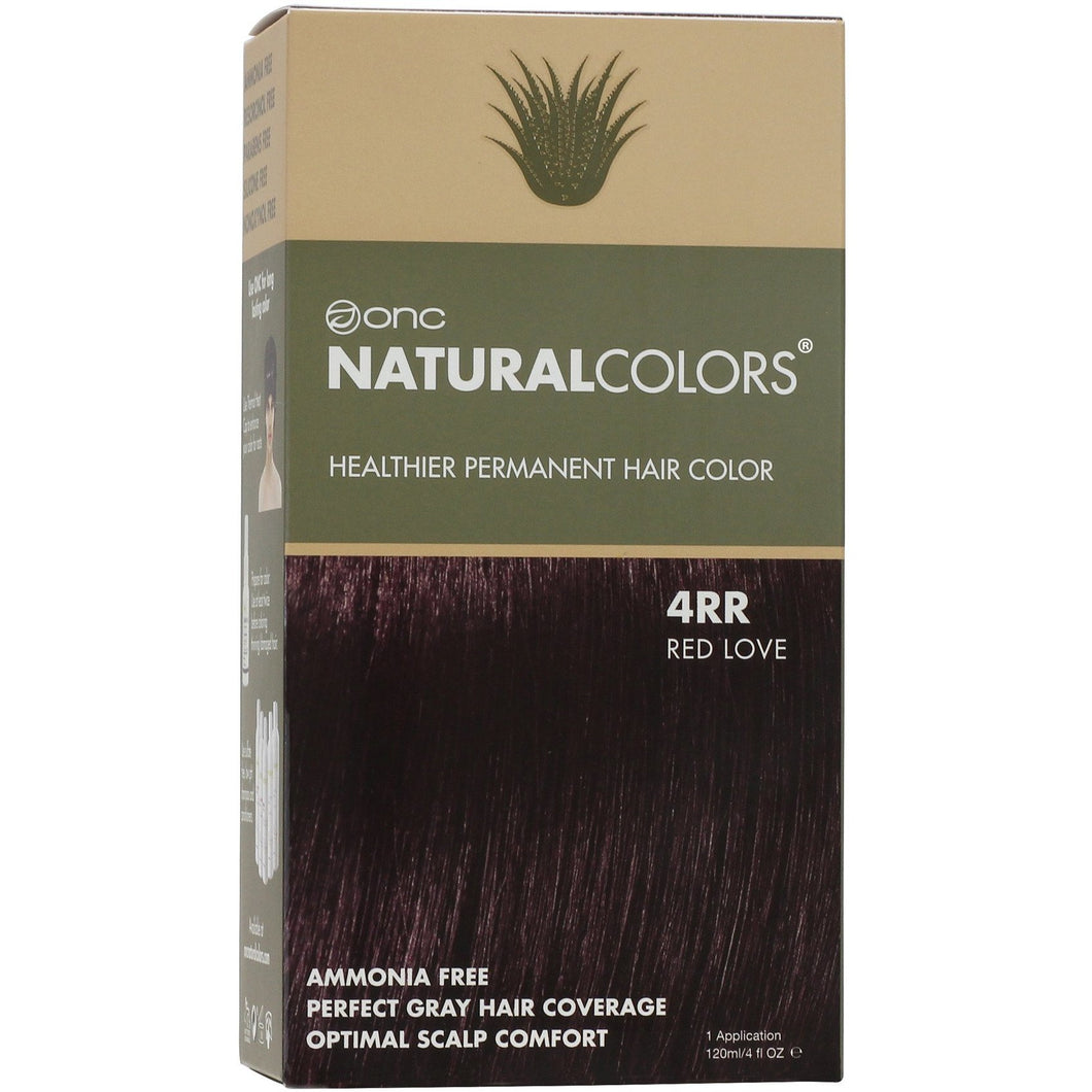 ONC NATURALCOLORS 4RR Red Love Hair Dye With Organic Ingredients 120 mL / 4 fl. oz.