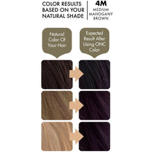 Load image into Gallery viewer, ONC 4M Medium Mahogany Brown Hair Dye With Organic Ingredients 120 mL / 4 fl. oz. Color Results