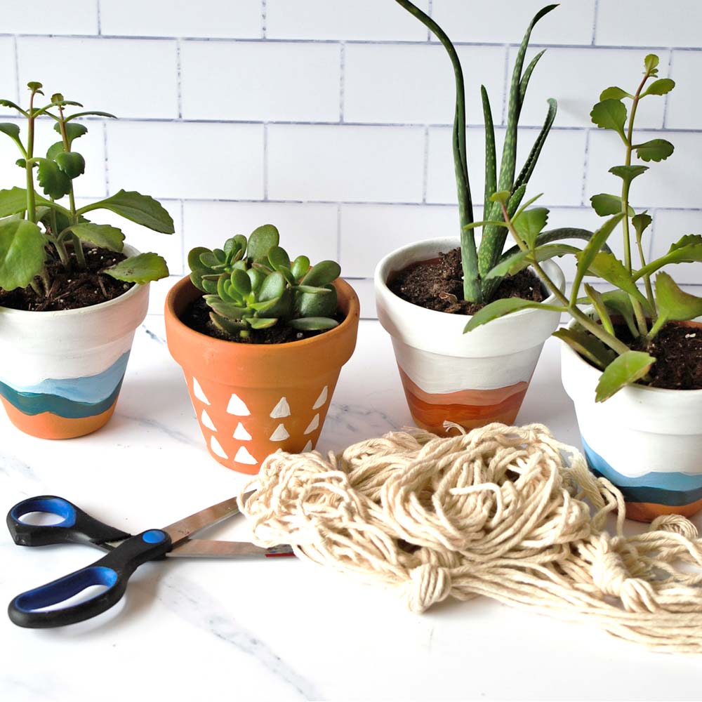 Macrame Hanging Planters DIY Kit
