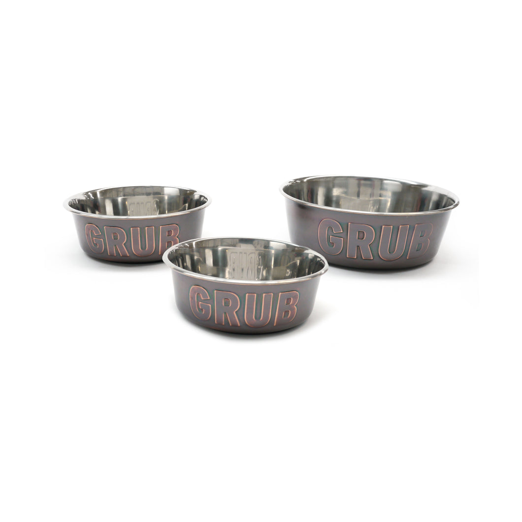Rosewood Grub Stainless Steel Pet Bowl