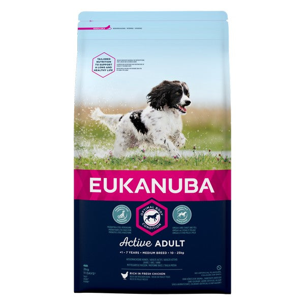 Eukanuba Active Adult Medium Breed Chicken 2kg