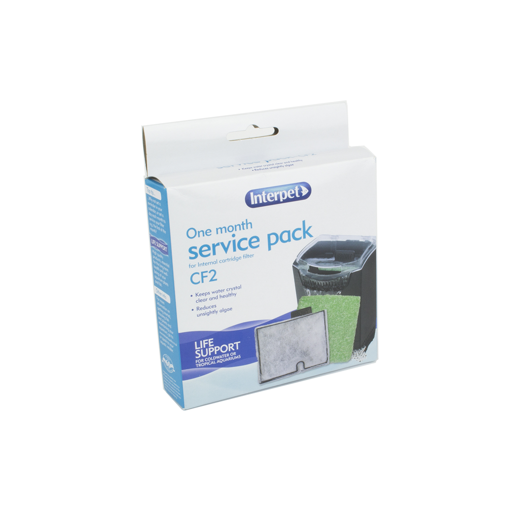 Interpet Internal Cartridge Filter CF2 - 1 Month Service Kit