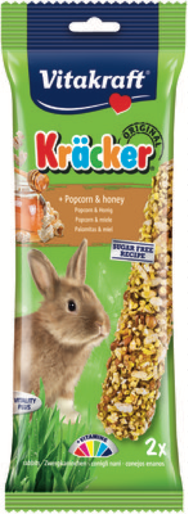 Vitakraft Rabbit Popcorn & Honey Kracker Treat Sticks