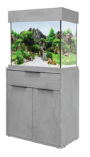 Load image into Gallery viewer, AquaOne OakStyle Industrial Concrete 110 Aquarium & Cabinet