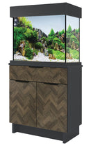 Load image into Gallery viewer, AquaOne OakStyle Anthracite Parquet 110 Aquarium & Cabinet