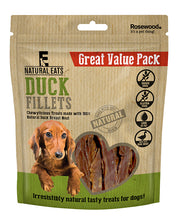Load image into Gallery viewer, Duck Fillets Dog Treats Value Pack 320g