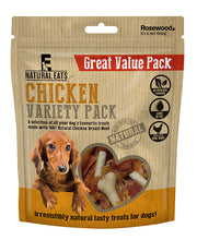 Load image into Gallery viewer, Chicken Variety Pack Dog Treats Value Pack 320g