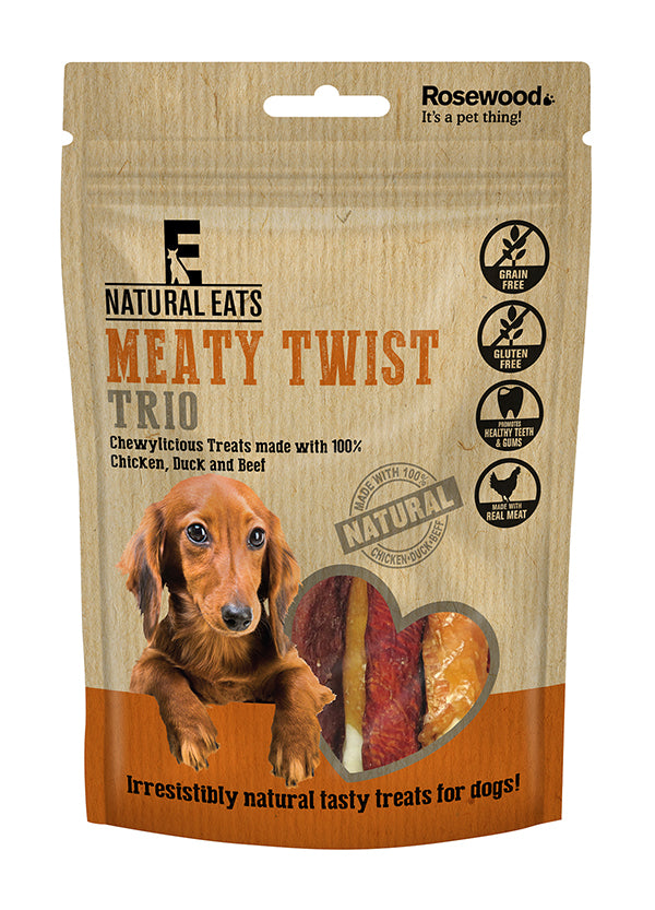 Meaty Twist Trio Dog Treats 90g