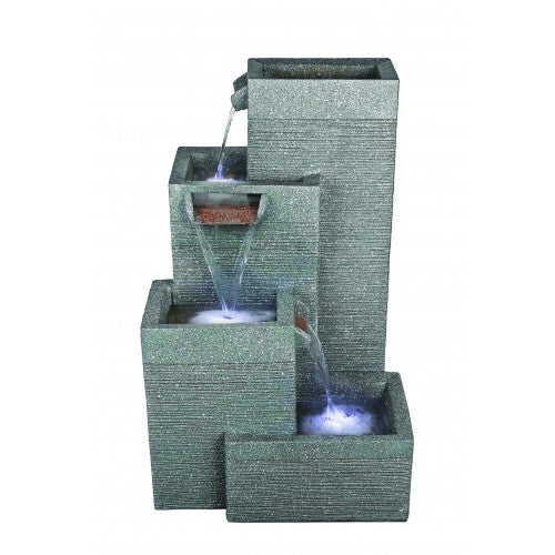 Aqua Creations Rectangular Grey Pillars