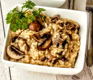 Vegan White Bean Mushroom Risotto Recipe By Chef Josh of the Mediblist