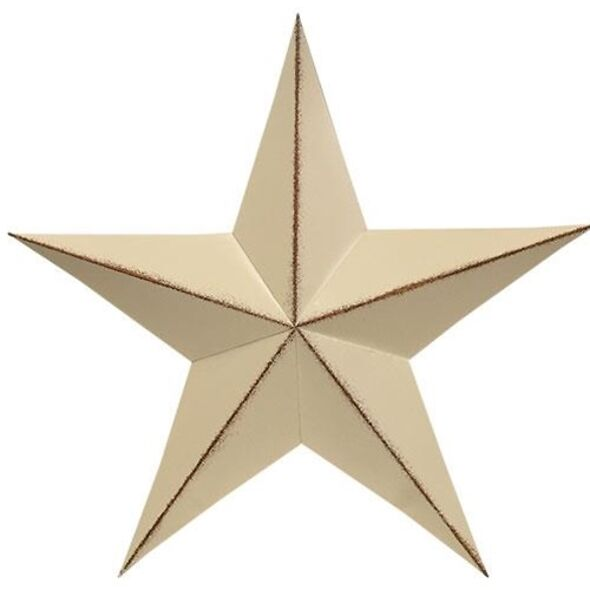 Distressed Cream Primitive Barn Star