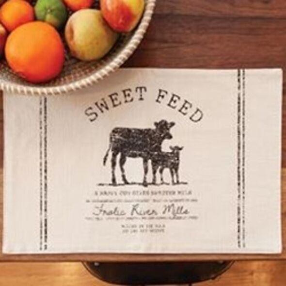 Sweet Feed Farmhouse Placemat - Cow Placemat - Set/4