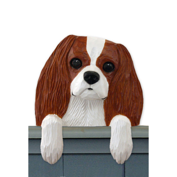 Wood Carved Cavalier King Charles Dog Door Topper