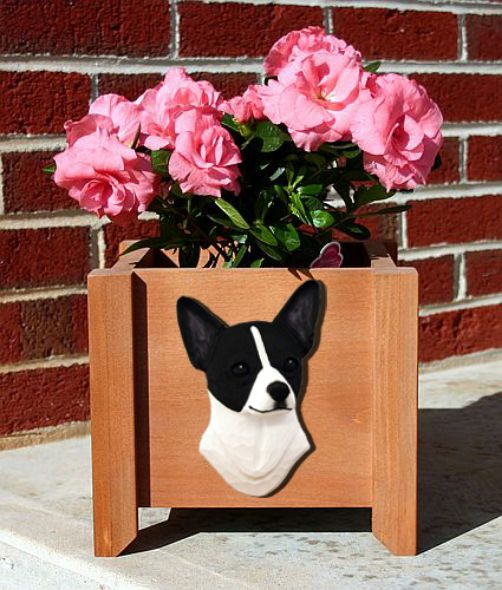 Handmade Chihuahua Dog Planter Box