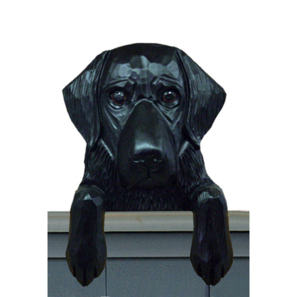 Wood Carved Flat Coated Retriever Dog Door Topper