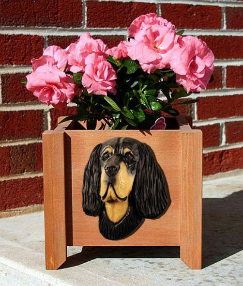 Handmade Gordon Setter Dog Planter Box