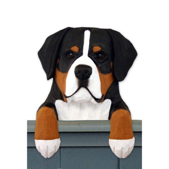 Wood Carved Great Swiss Mountain Dog Door Topper