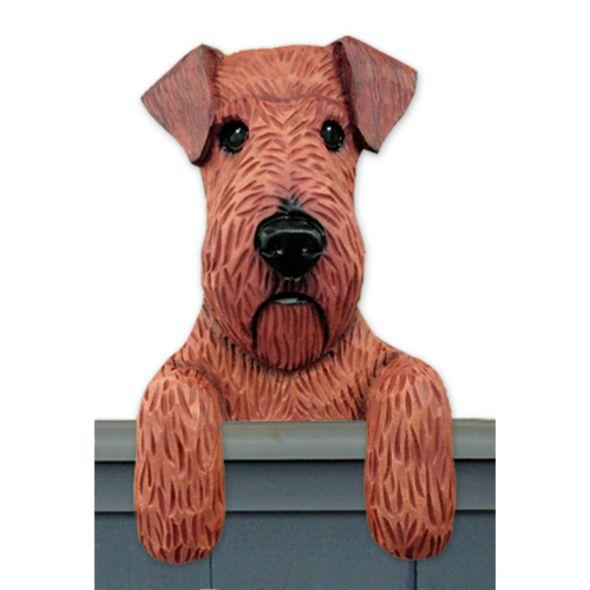 Wood Carved Irish Terrier Dog Door Topper