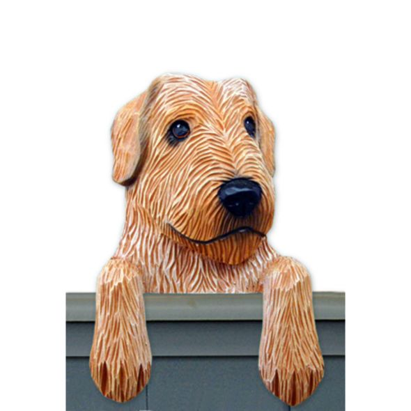 Wood Carved Irish Wolfhound Dog Door Topper