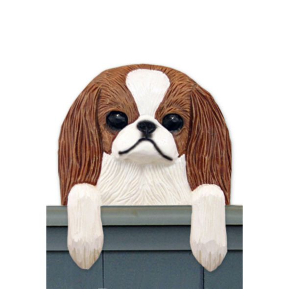 Wood Carved Japanese Chin Dog Door Topper