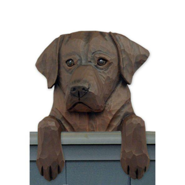 Wood Carved Labrador Retriever Dog Door Topper