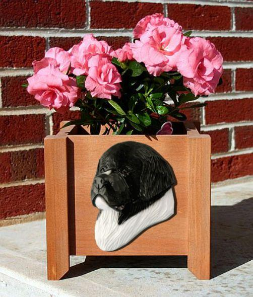 Handmade Newfoundland Dog Planter Box