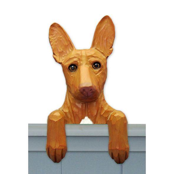 Wood Carved Pharaoh Hound Dog Door Topper