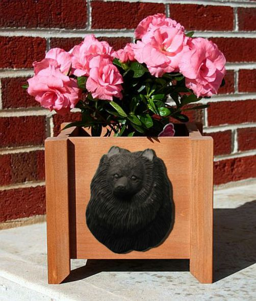 Handmade Pomeranian Dog Planter Box