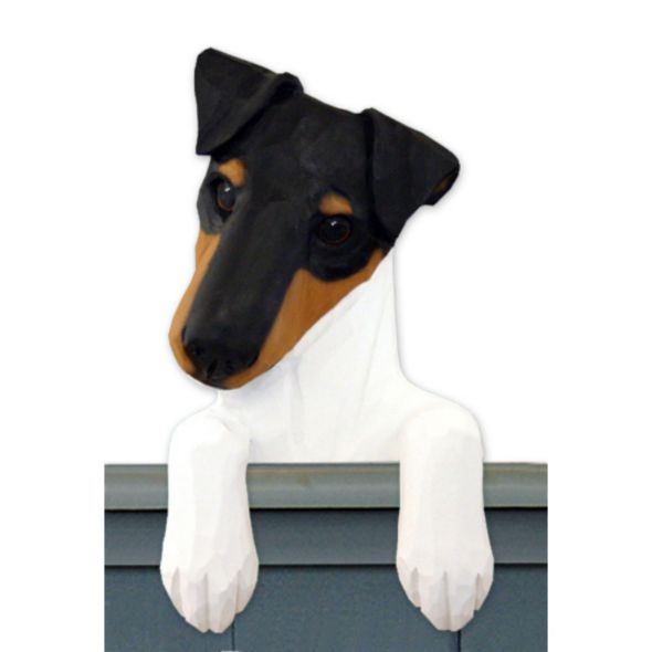Door Toppers - Wood Carved Smooth Fox Terrier