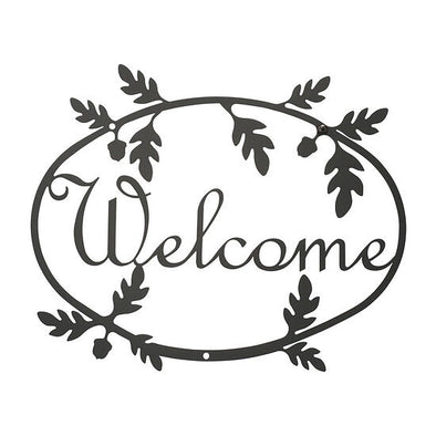 Wrought Iron Fall Acorn Welcome Sign - Shugar Plums Gift Store