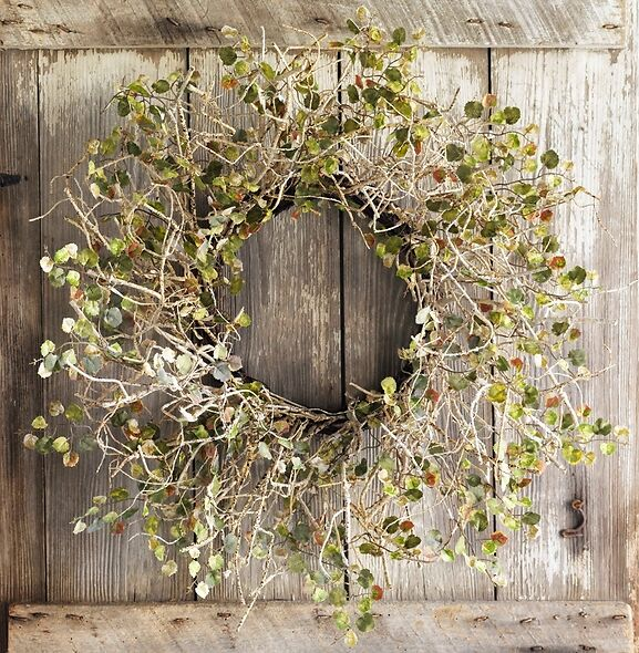 Hanging Birch Branch Farmhouse Wreath