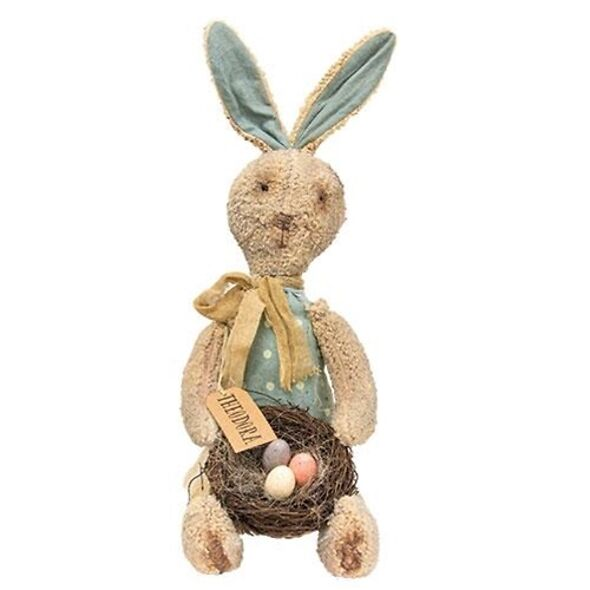Theodora Primitive Bunny Fabric Doll