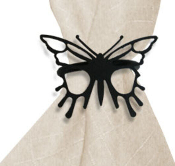 Wrought Iron Butterfly Decorative Napkin Ring Set of 2