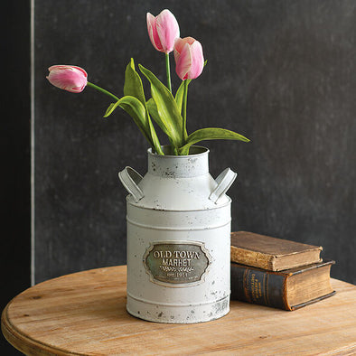 Decorative Old Town Milk Can - Farmhouse Container - Shugar Plums Gift Store