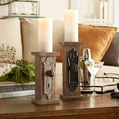 Distressed Door Knob Candle Holders -  Set Of 2 - Shugar Plums Gift Store