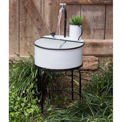 Outdoor Garden Sink With Water Pump