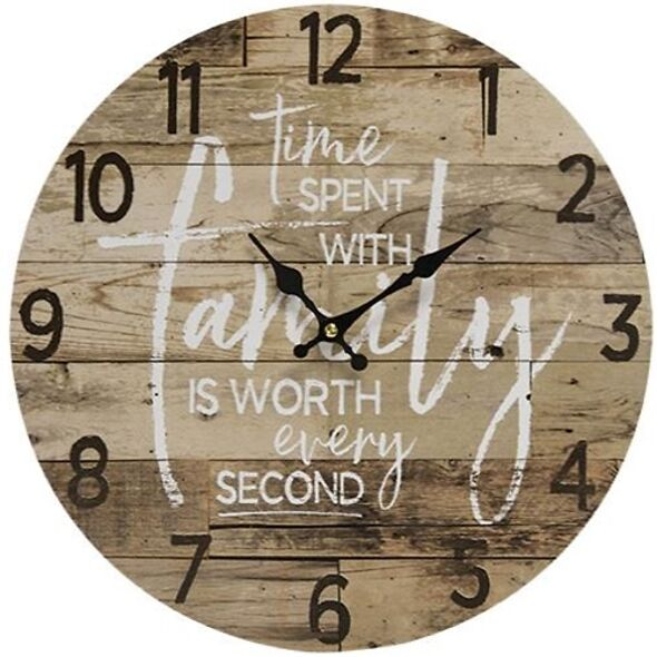 Farmhouse Wall Clock - Time Spent With Family