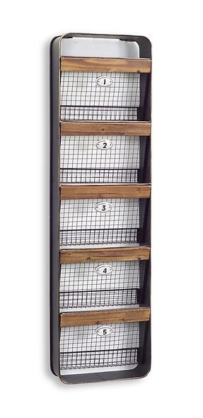 5 Basket Wall Organization Hanger