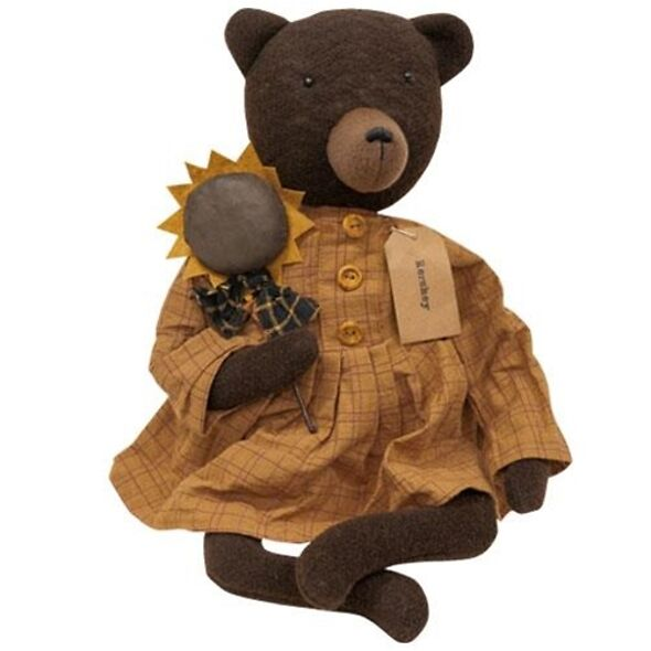 Hershey Bear Primitive Doll - Primitive Decor
