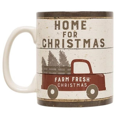 Home For the Holidays Stoneware Mug - Shugar Plums Gift Store