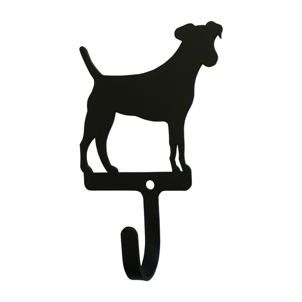 Jack Russel Wrought Iron Wall Hook Small