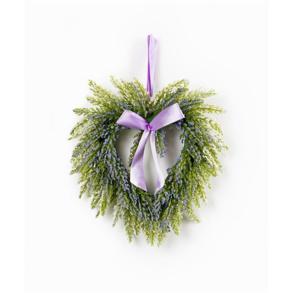 Purple & Lavender Mini Heart Wreath Set