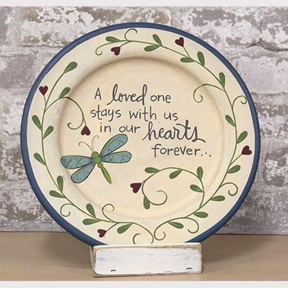Loss Of Loved One Keepsake Decorative Plate - Butterfly