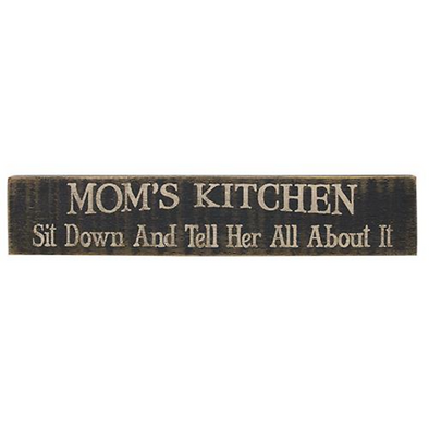 Distressed Wood Farm House Sign - Mom's Kitchen - Shugar Plums Gift Store