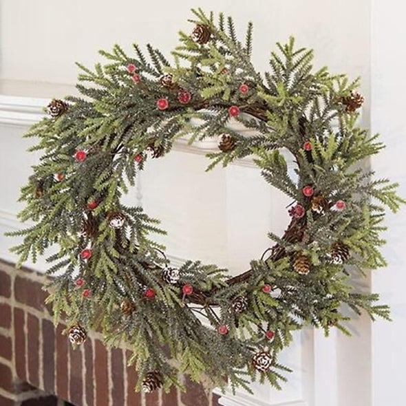 Mountain Pine Holiday Wreath - 18 In