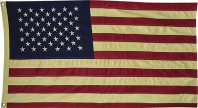 Primitive Aged American Flag, 58""