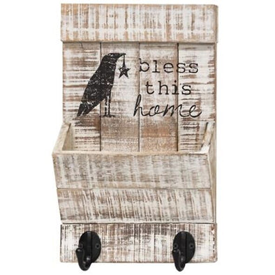 Primitive Bless This Home Wall Organizer - Shugar Plums Gift Store