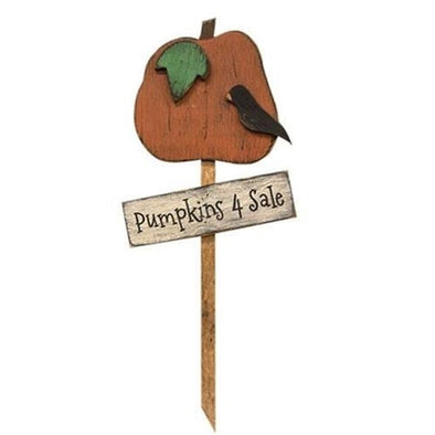 Primitive Pumpkins Outdoor Stake