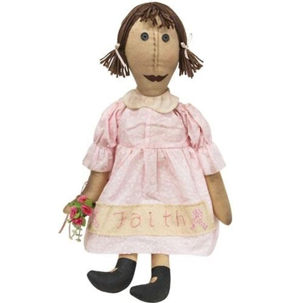 Primitive Doll Faith - Breast Awareness Doll